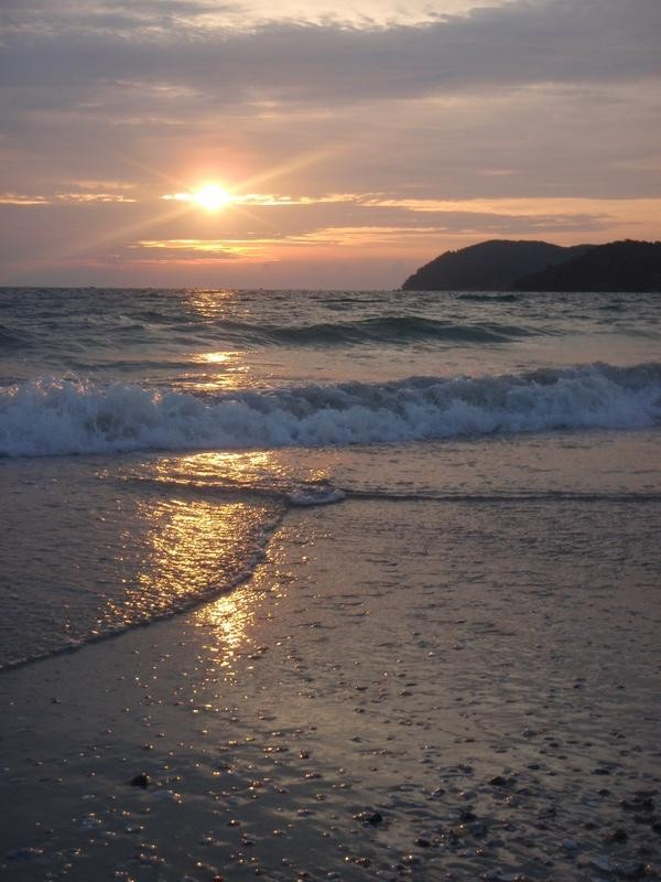 Sunset on the beach, Langkawi island, Malaysia
