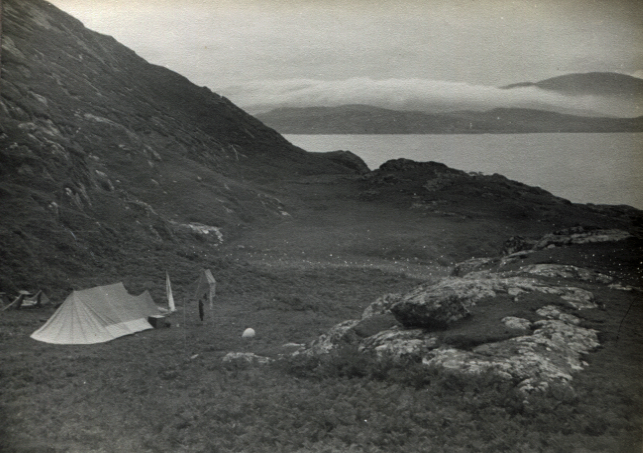 camping on Sandray, Scotland 1969