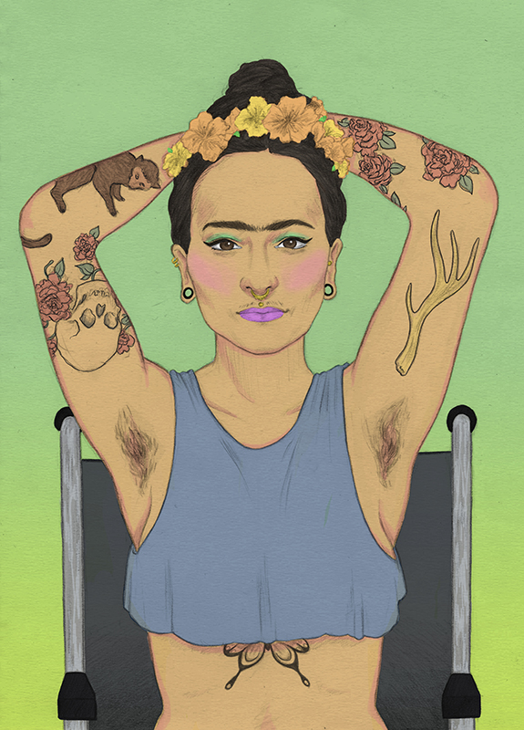 Frida Kahlo, Laura Wilson illustration