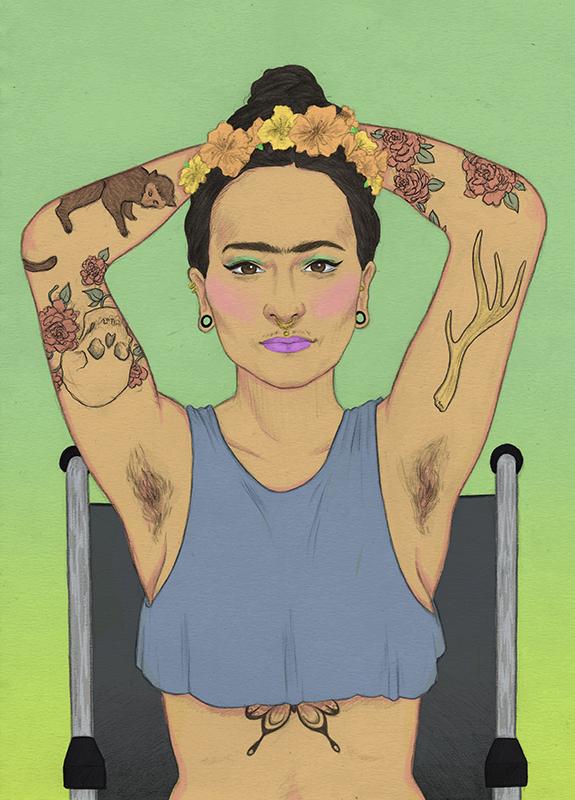 Frida Kahlo, Laura Wilson illustration