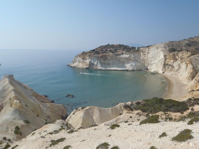 Ormos Ag Ioannou, Milos, Cyclades, Greece.