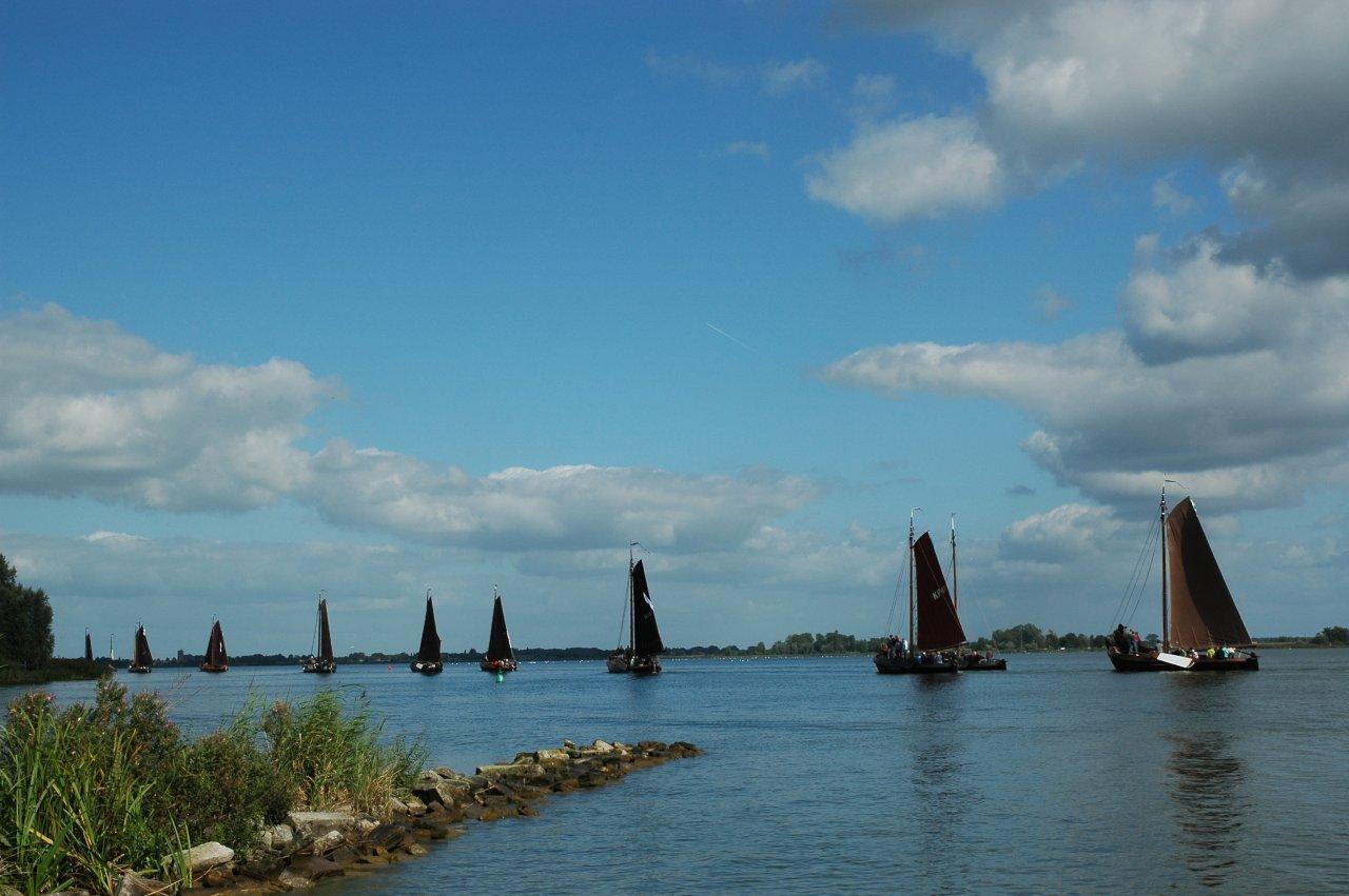 Botters op het Veluwemeer