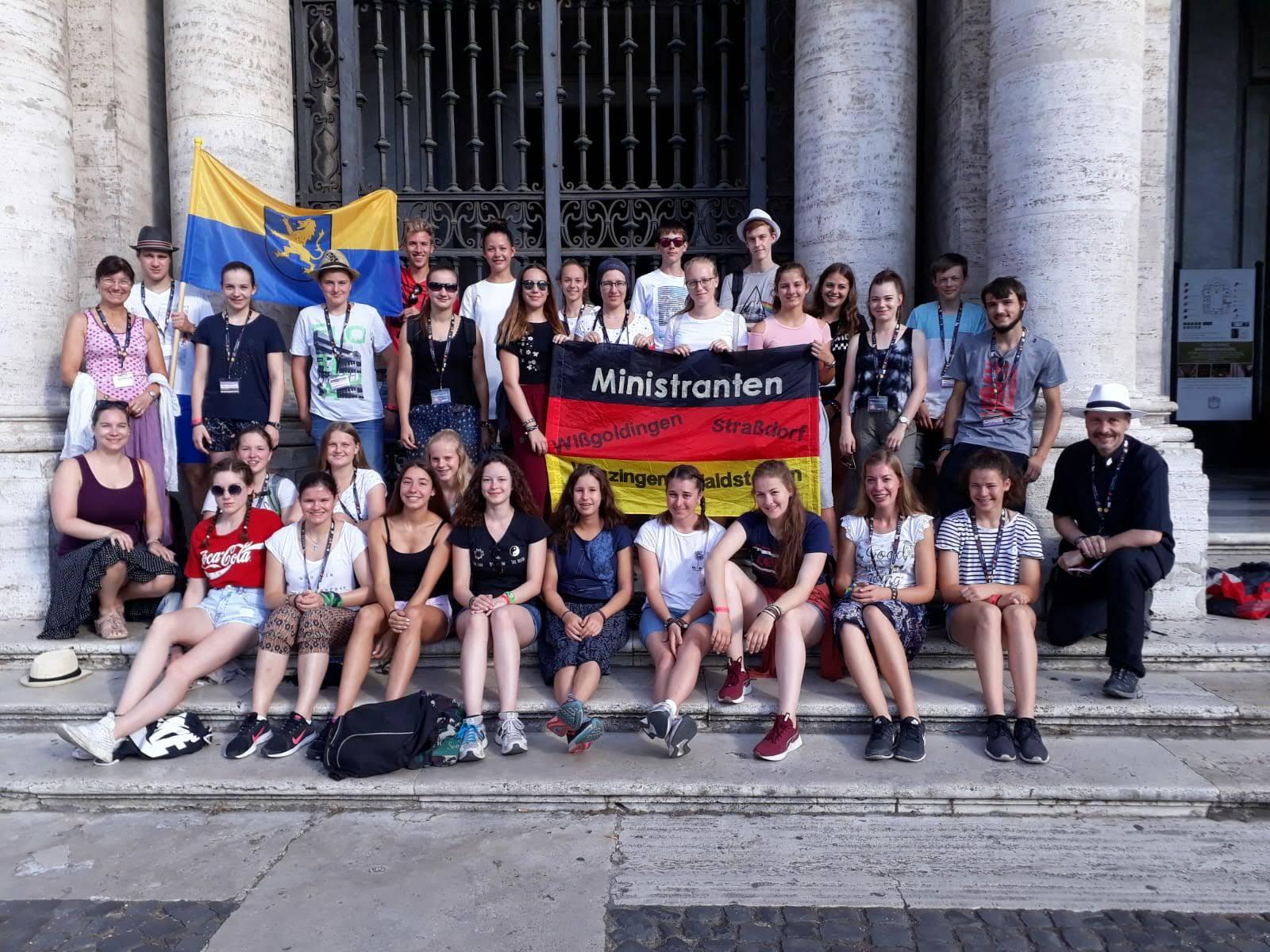 Gruppenfoto vor St. Maria Maggiore