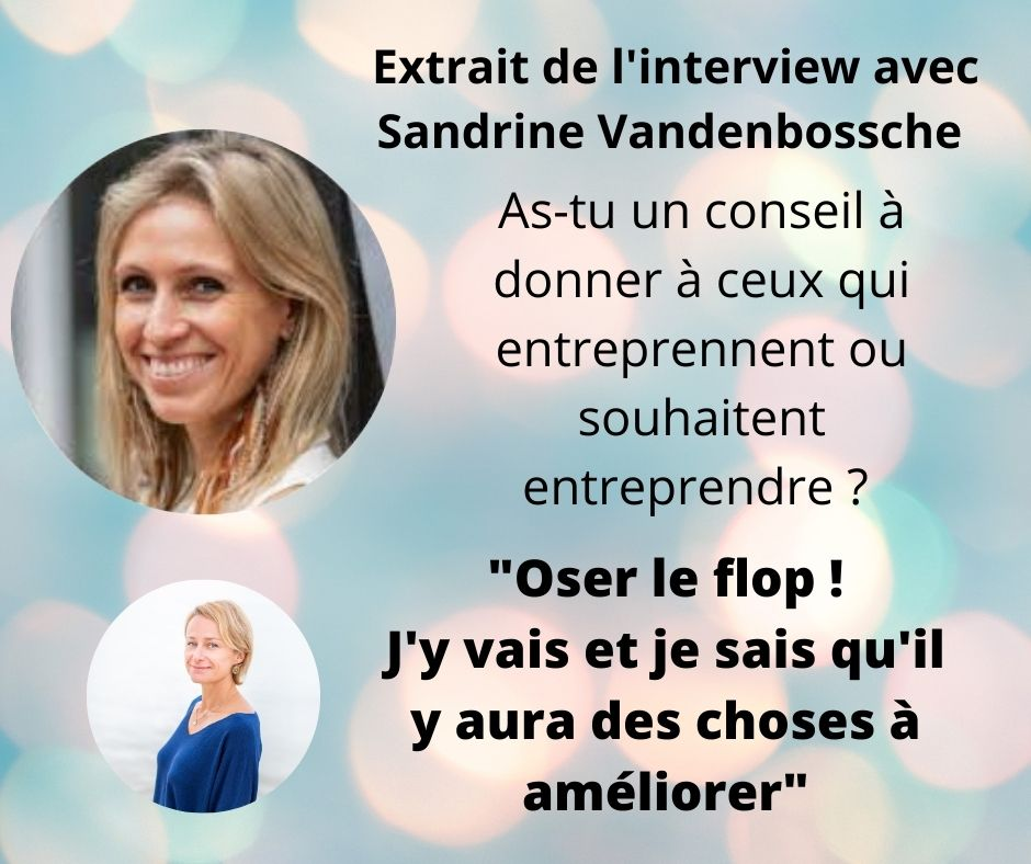 Interview Sandrine Vandenbossche https://www.facebook.com/603375985/videos/10157873259050986/