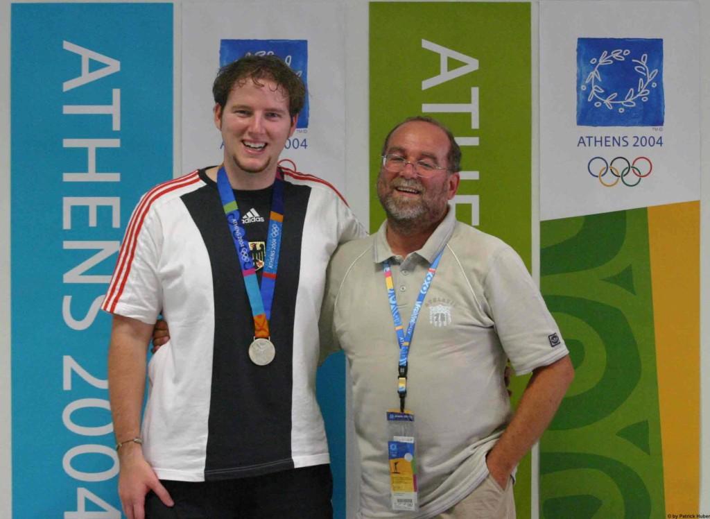 Christian Lusch mit Trainer Raimund Blattmann