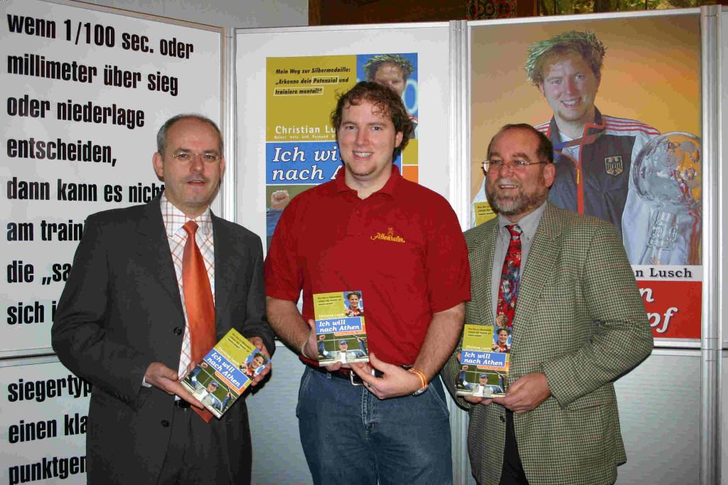 Vorstellung des Buches mit Mentaltrainer Rainer Hatz (links) und Trainer Raimund Blattmann (rechts)