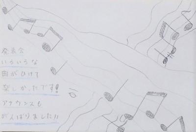 発表会の感想 小学5年生 女の子