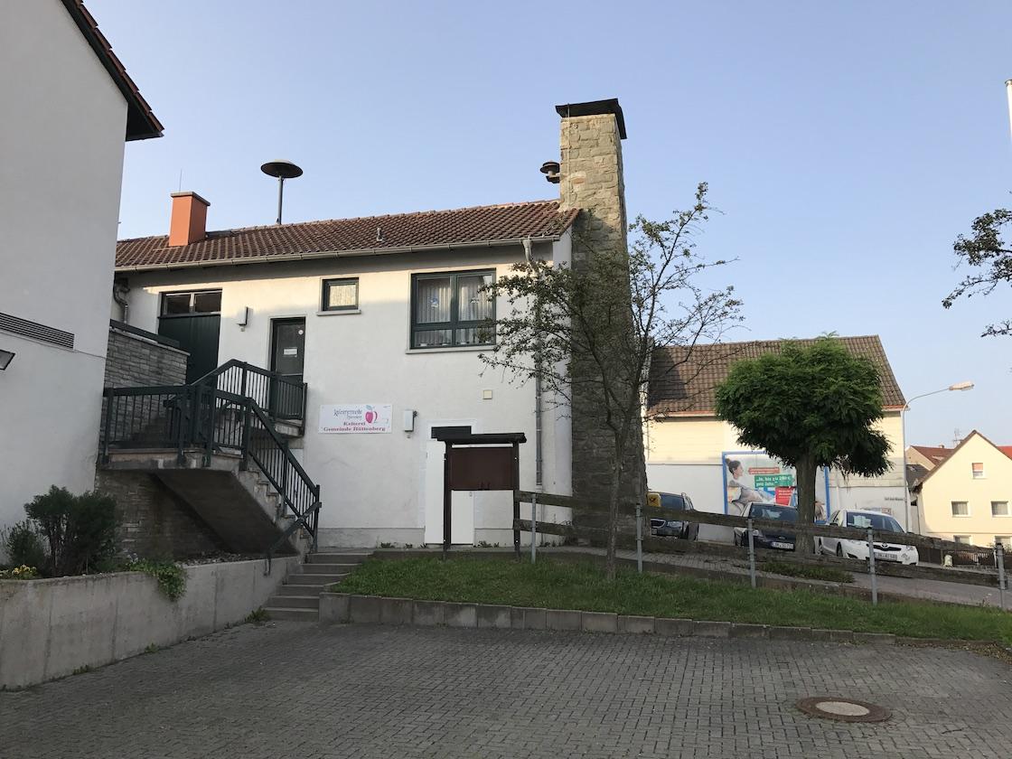 Unsere Kelter steht im Ortszentrum von Volpertshausen