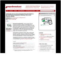 Grafik: Webscreen - OPENBROADCAST Pressemitteilung, Wulfgramm Konzept UG (haftungsbeschränkt), Hamburg