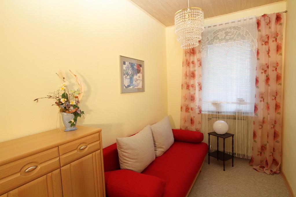 Eenpersoonskamer met een slaapbank (binnenvering) voor 1-2 personen