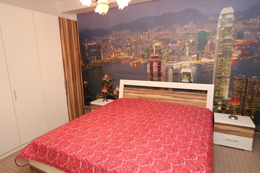 Slaapkamer 2 met een tweepersoonsbed