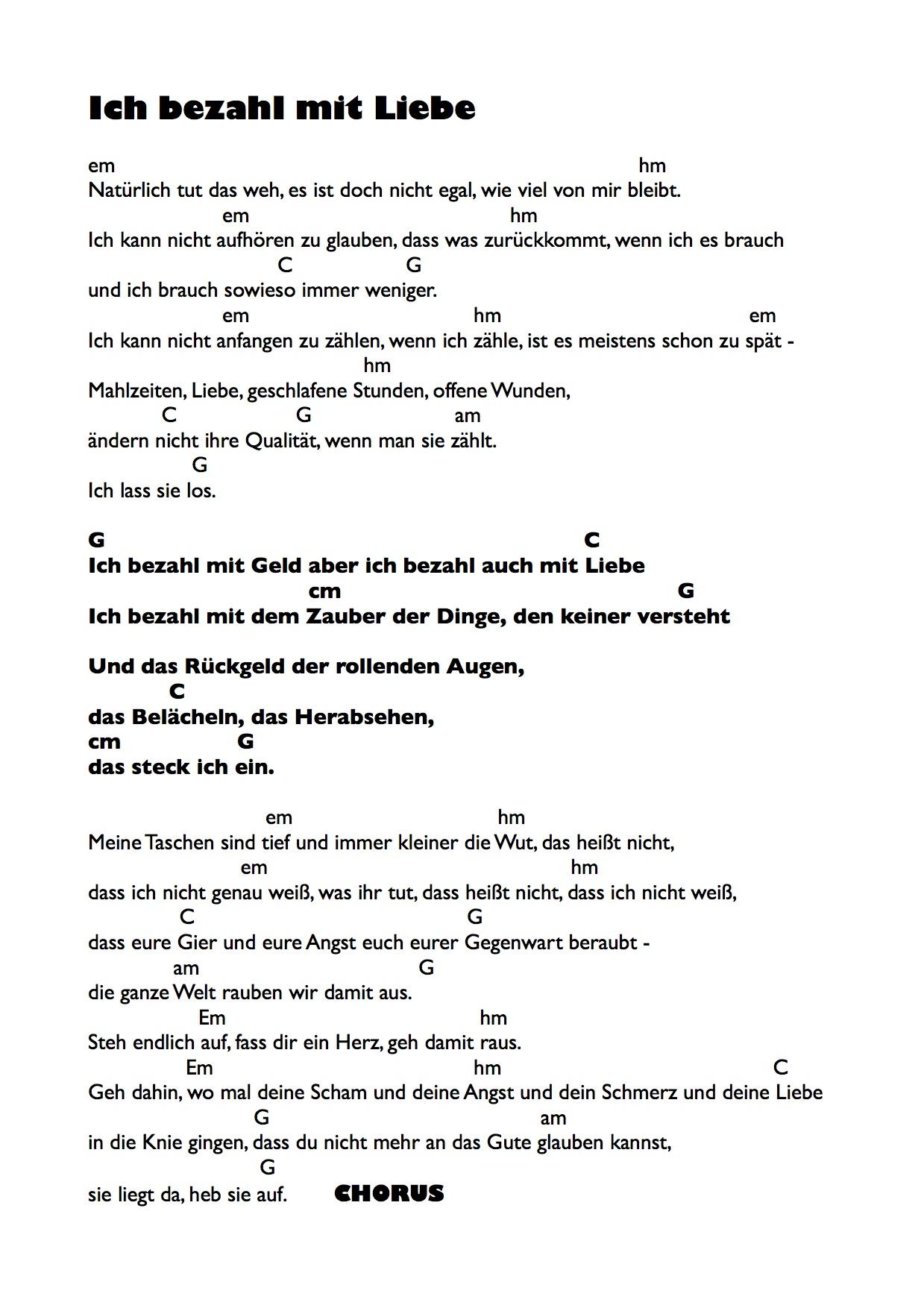Texte Chords Maike Rosa Vogel