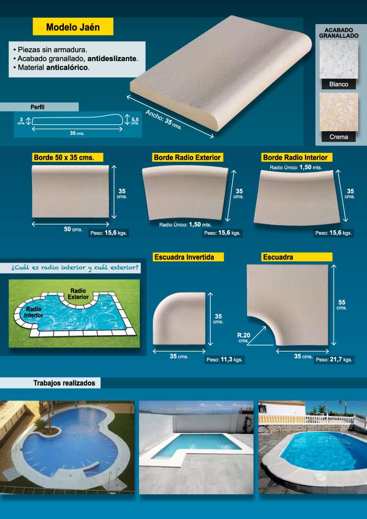 Bordes de piscina p gina web de industriasalcazar for Bordes decorativos para piscinas