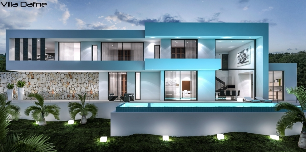 Villa mit pool by lifestyle homes ag moderne spanische for Villa modern bauen