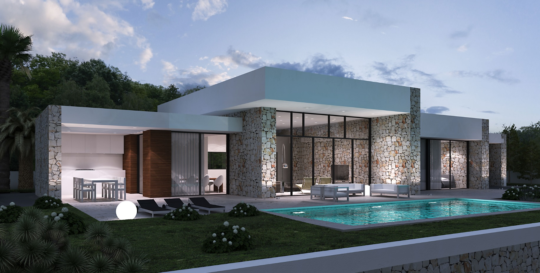 luxus villa cecile moderne spanische villa mit pool lifestyle homes ag. Black Bedroom Furniture Sets. Home Design Ideas