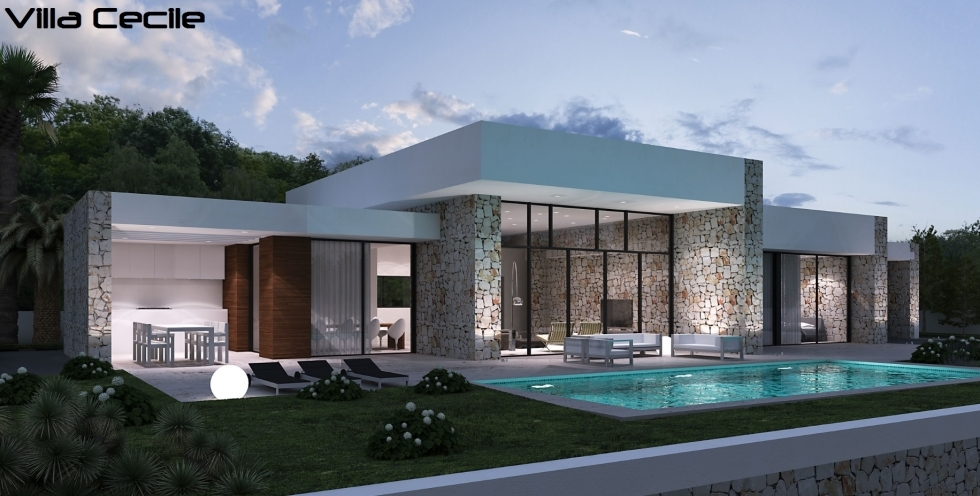 Villa mit pool by lifestyle homes ag moderne spanische for Moderne villen deutschland