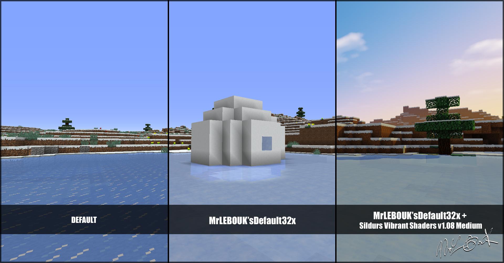 Igloo : Resource pack minecraft MrLEBOUK'SDEFAUT32x