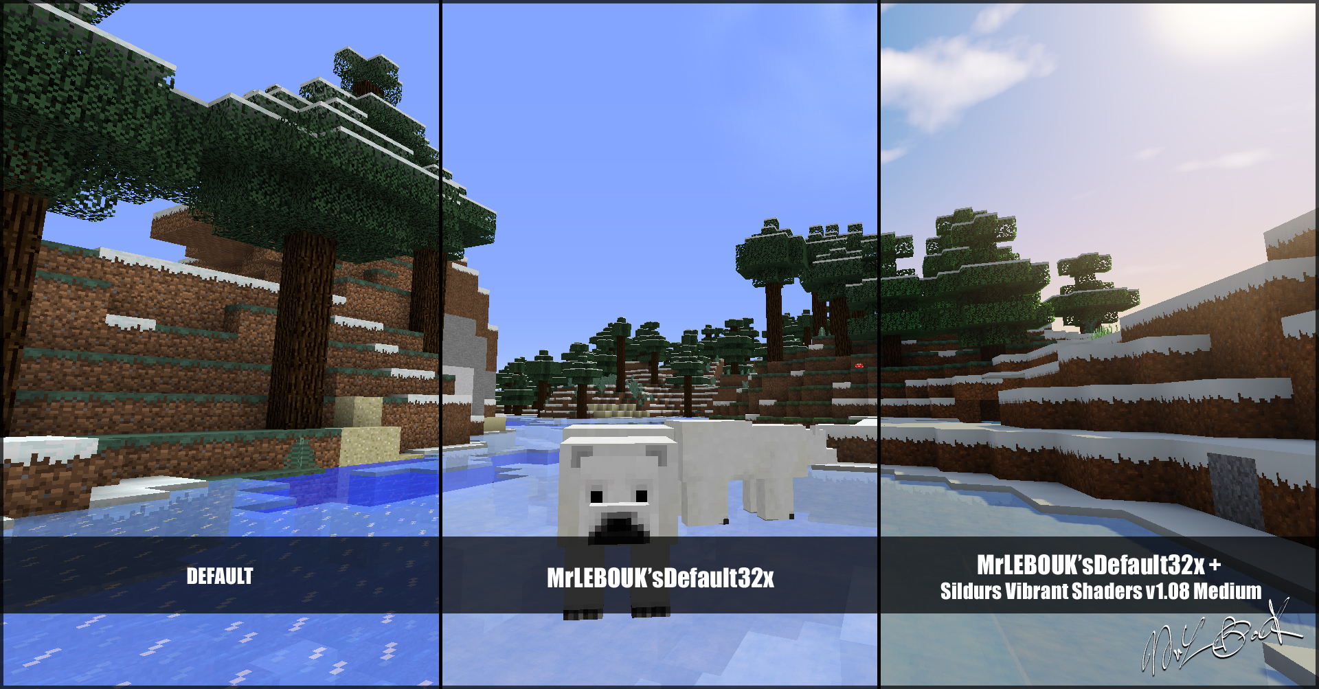 Rivière gelée et ours : Resource pack minecraft MrLEBOUK'SDEFAUT32x
