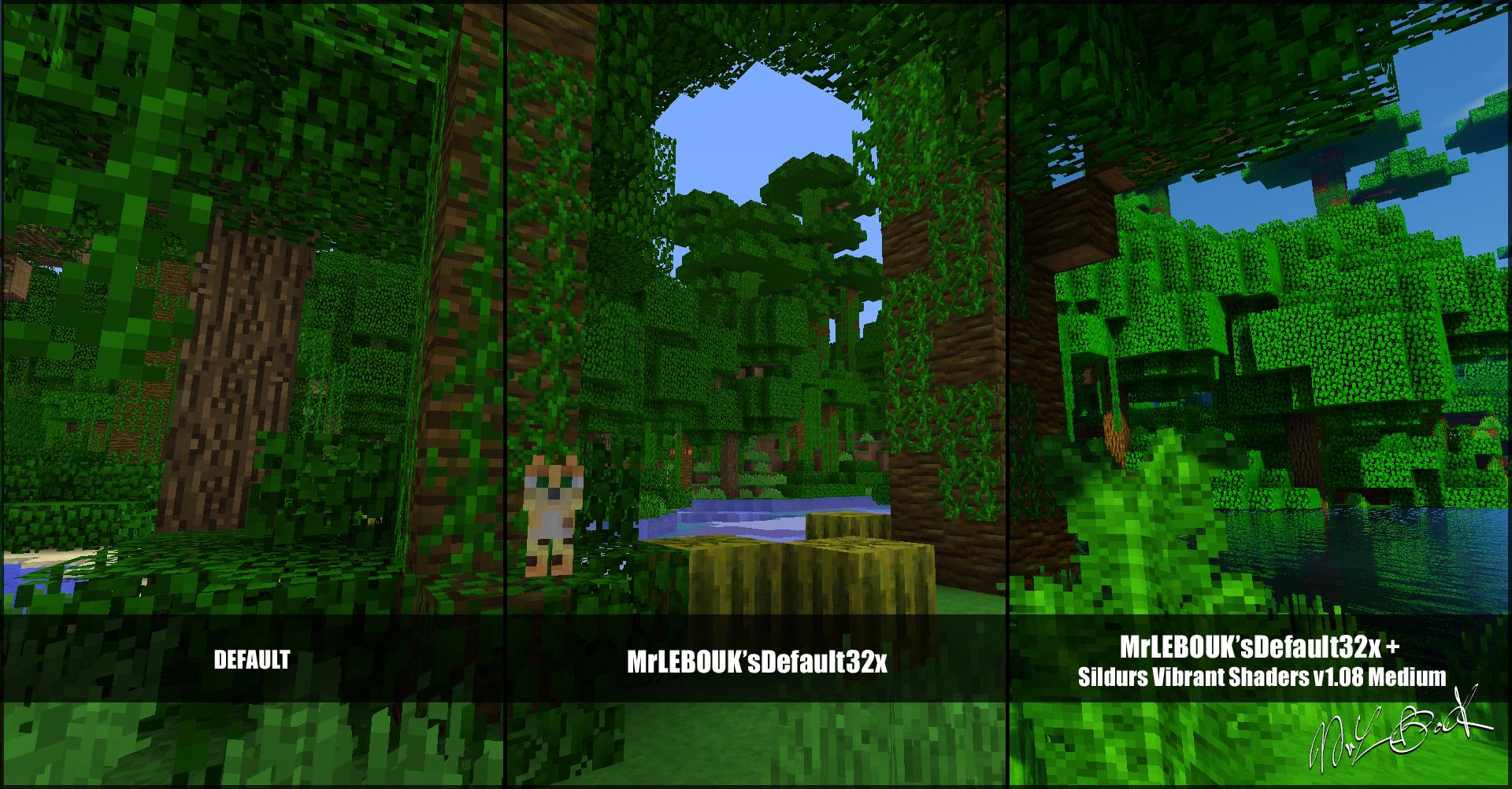 Jungle : Resource pack minecraft MrLEBOUK'SDEFAUT32x