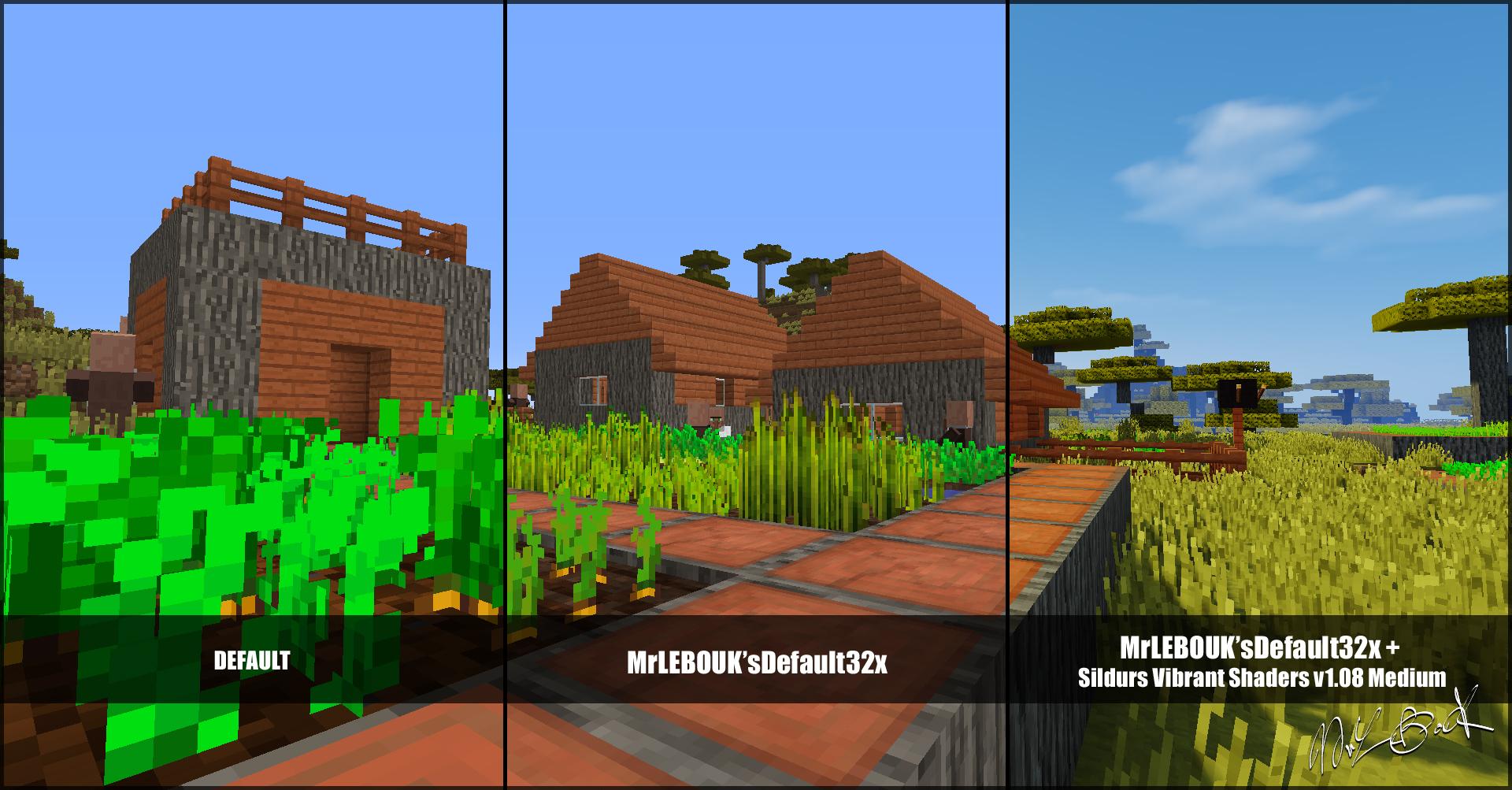 Village savane : Resource pack minecraft MrLEBOUK'SDEFAUT32x