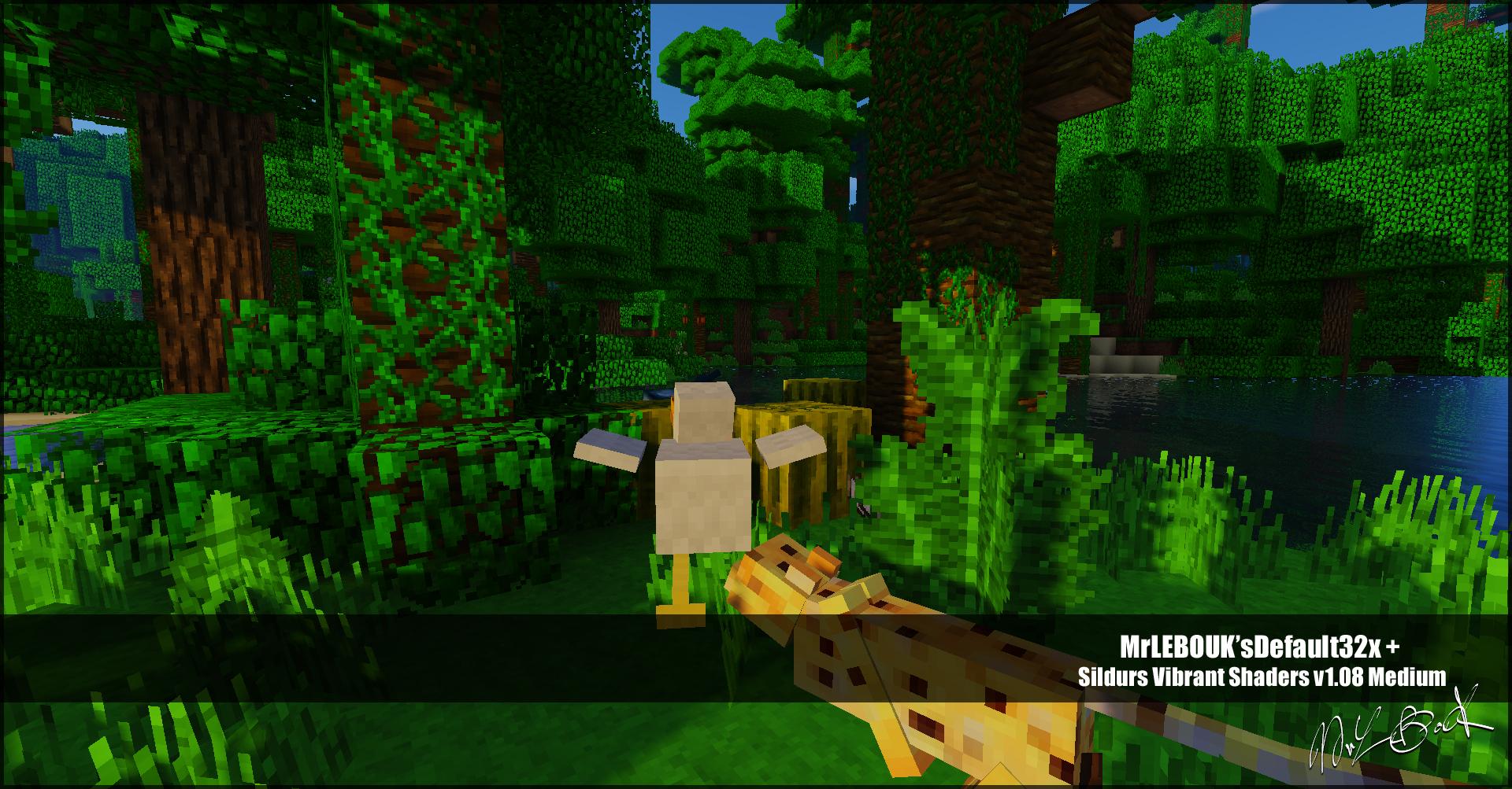 Jungle et ocelot : Resource pack minecraft MrLEBOUK'SDEFAUT32x