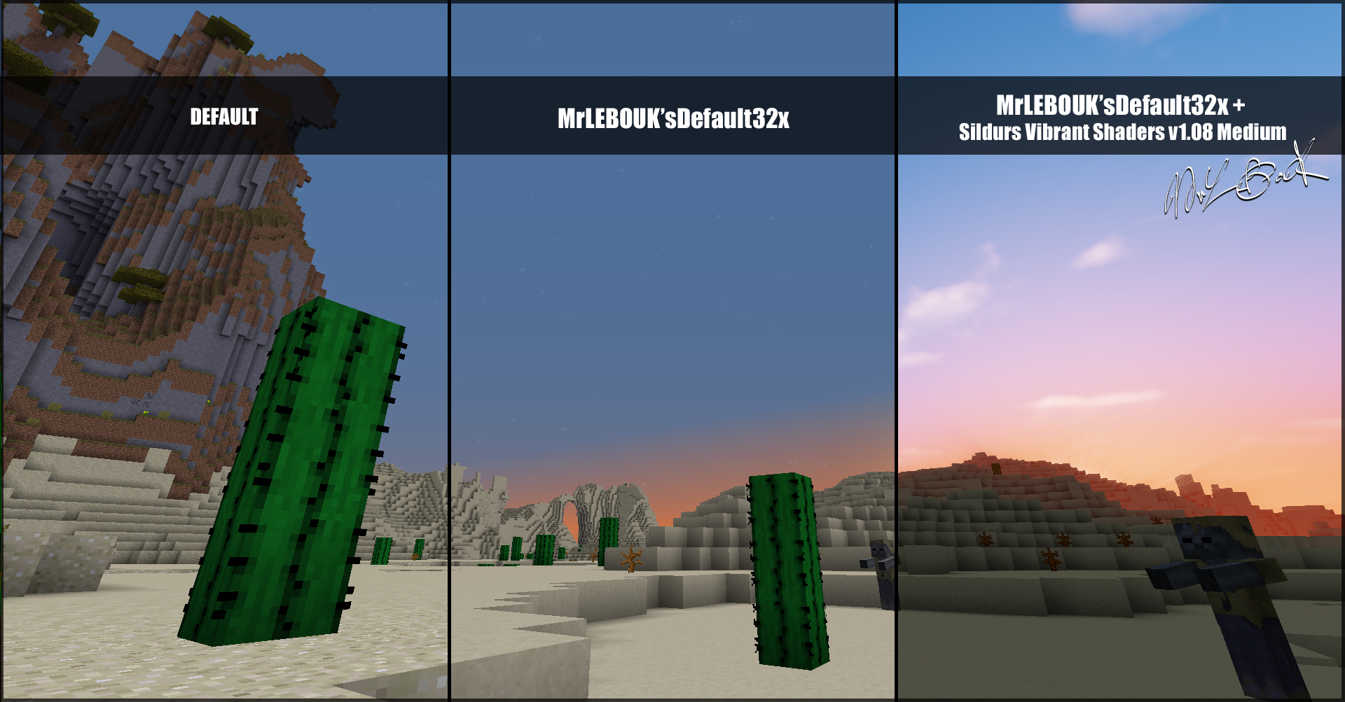 Desert : Resource pack minecraft MrLEBOUK'SDEFAUT32x