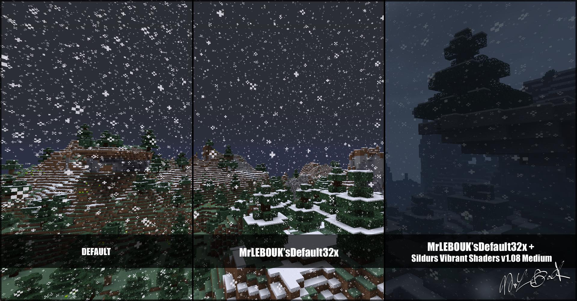 Neige et forêt de sapin : Resource pack minecraft MrLEBOUK'SDEFAUT32x