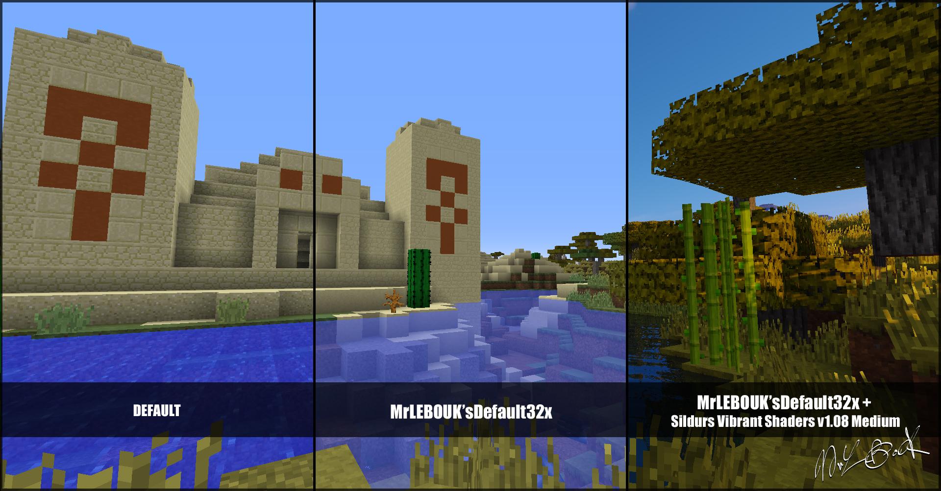 Temple du desert : Resource pack minecraft MrLEBOUK'SDEFAUT32x