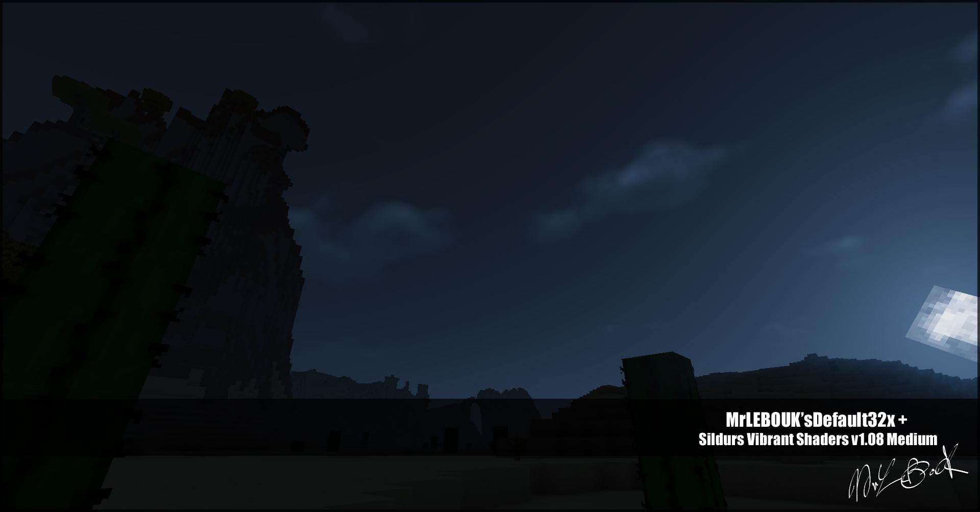 Desert nuit : Resource pack minecraft MrLEBOUK'SDEFAUT32x
