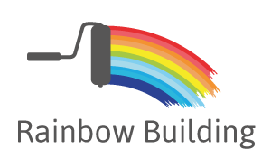 Logo rainbow building