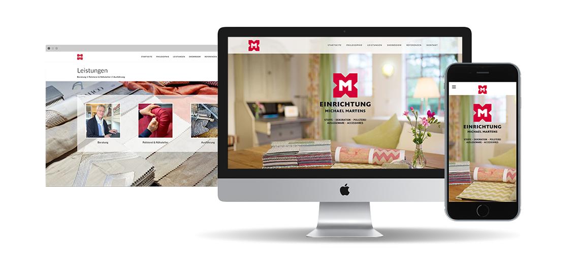 Webdesign | Kunde: Einrichtung Michael Martens