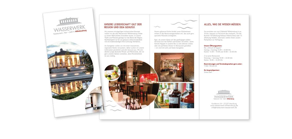 Imagefolder | Kunde: Restaurant Wasserwerk | Agentur: Marken-Boot-Hamburg