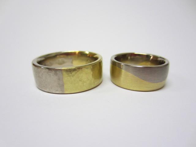 Ein Paar in 750 Gelb.- und Weißgold