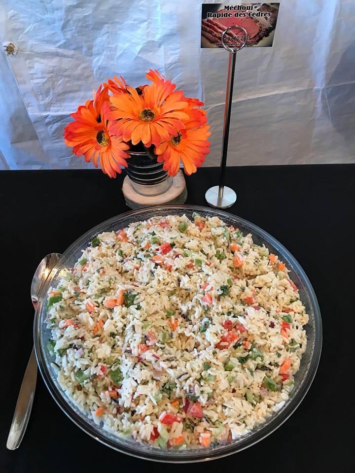 Salade riz estival