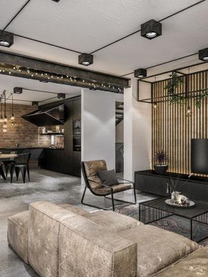 Lobby furniture hall and lightings