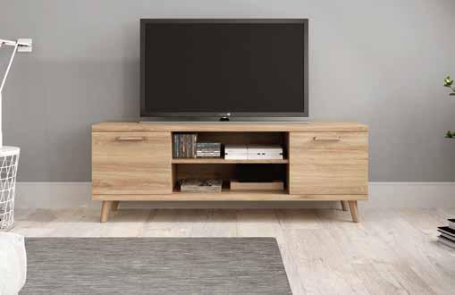 Mueble de televisión para apartamento turístico.