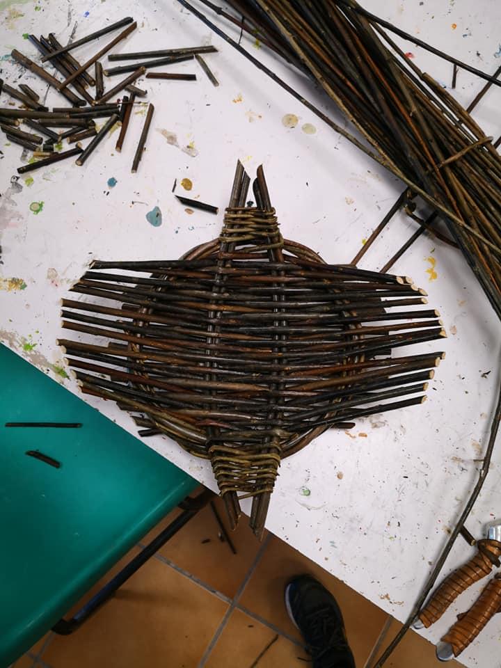 Création d'un objet en osier - Atelier de Thomas LOUINEAU