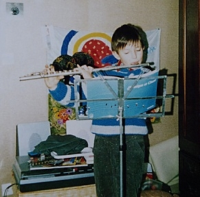 A 9 ans, mes débuts.