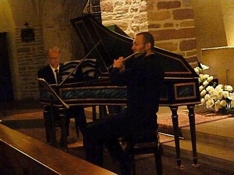 Das erste Recital seit der Dystonie, mit Heinrich Walther in der Abteikirche in Ottmarsheim am 4. November 2012. (Foto: Muslin, Journal L'Alsace)