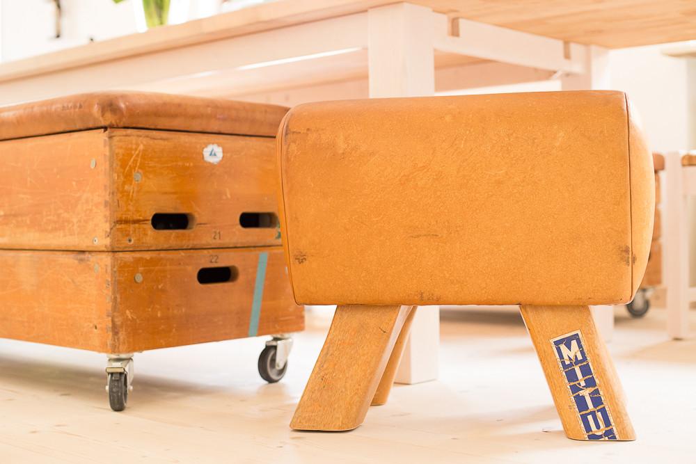 Bockhocker - wenn man den Bock zum Hocker macht - Möbel aus Turngeräten