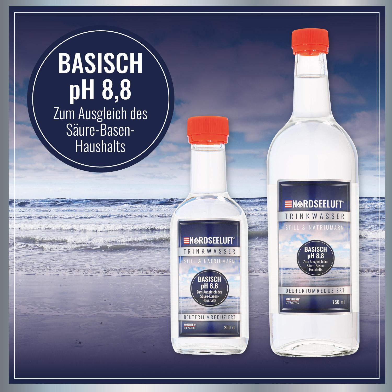 Nordseeluftwasser Basisch - 250 ml | 750 ml Glasflasche