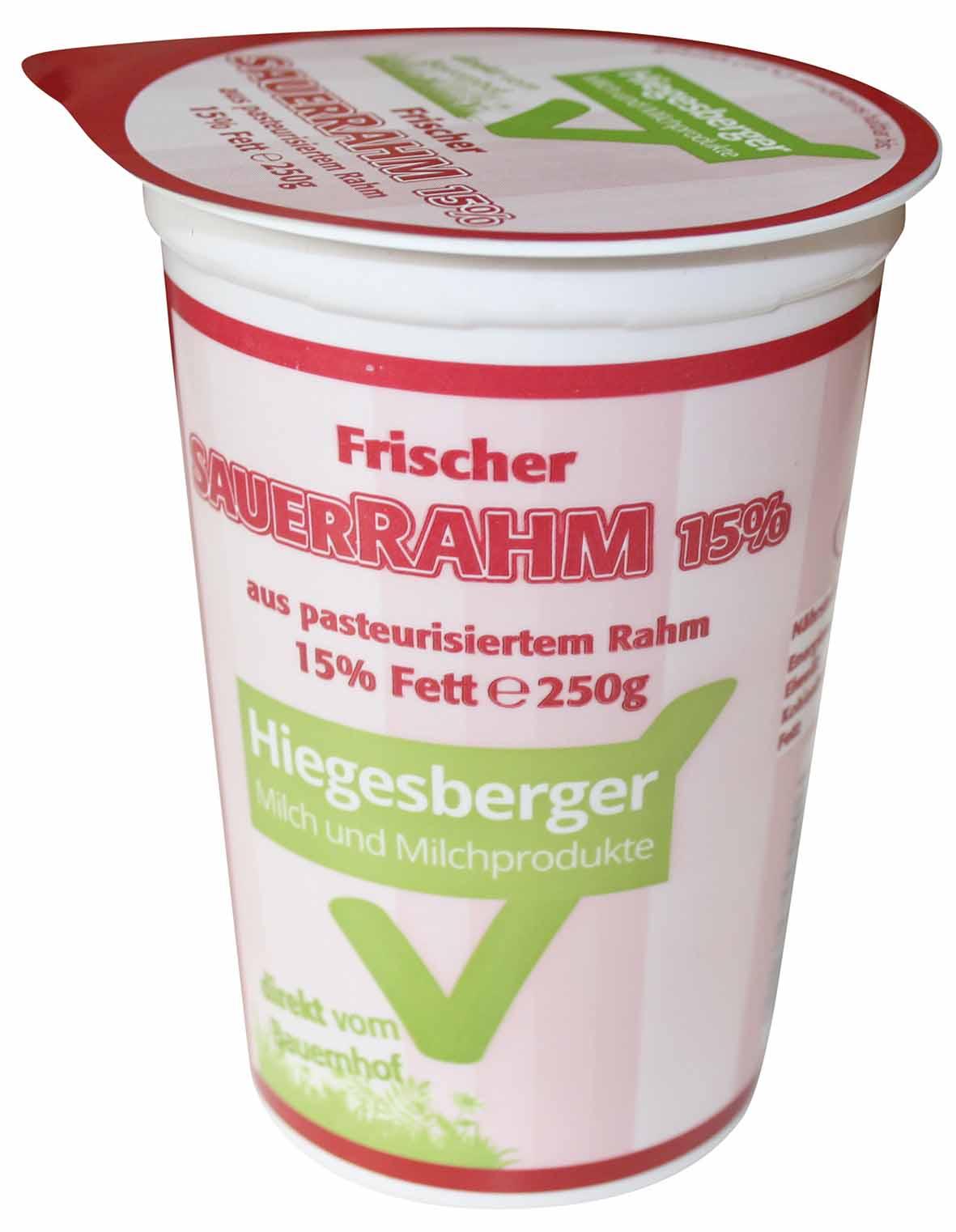 Hiegesberger_Sauerrahm_15%_Fett_250g