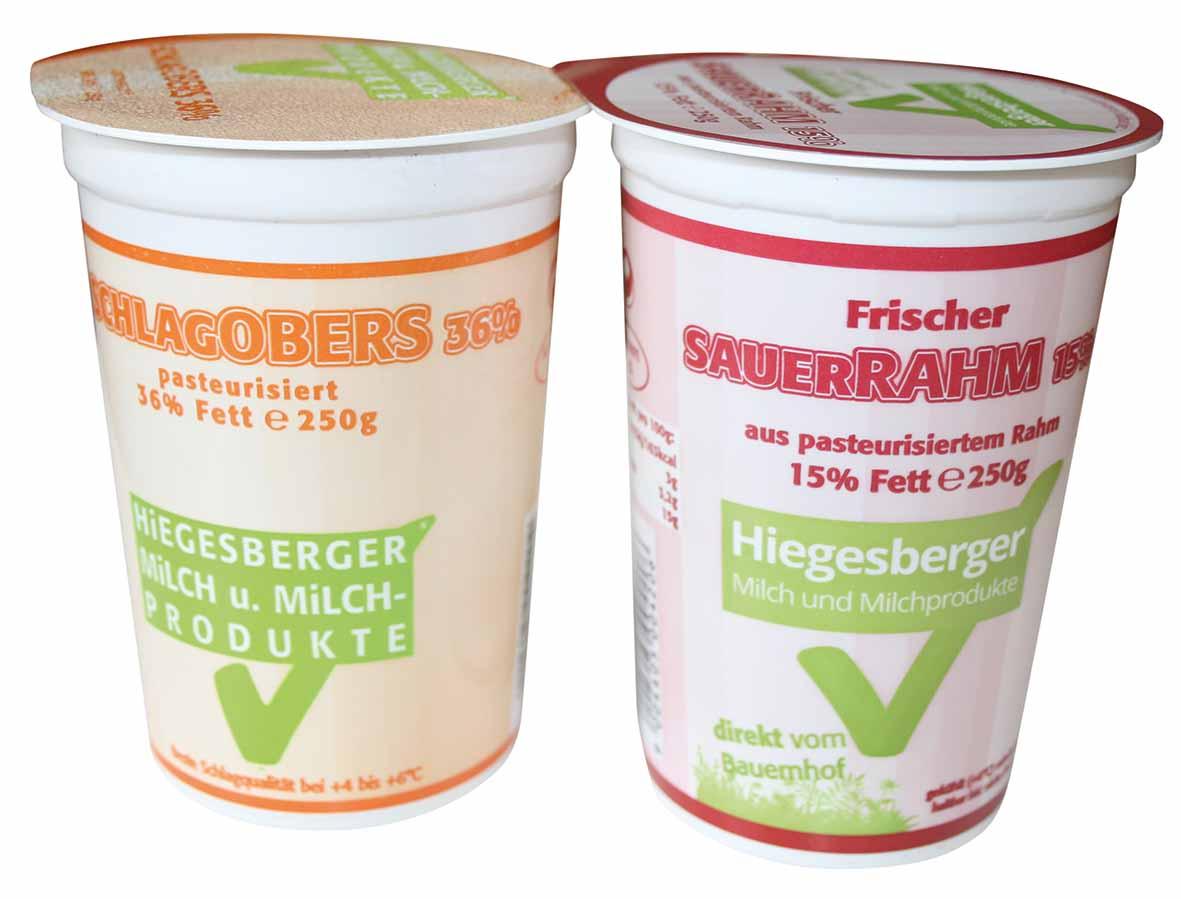 Hiegesberger_Schlagobers36%_und_Sauerrahm15%_250g