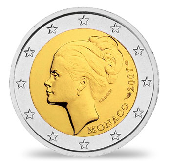 2 Euro Münze Grace Kelly 2007