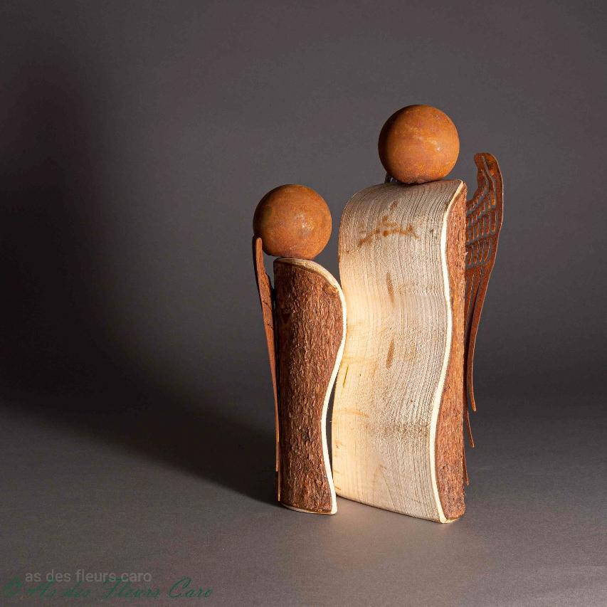 Figurines bois et métal