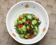 彩り野菜と昆布の和え物