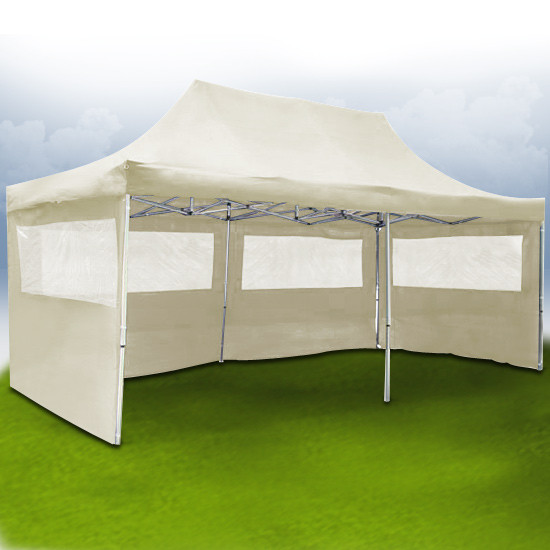 tonnelle barnum pliant 6x3m beige site jimdo de lmco. Black Bedroom Furniture Sets. Home Design Ideas