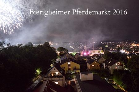Feuerwerk Bietigheimer Pferdemarkt 2016 vom extrafit aus, Fitnessstudio 40+