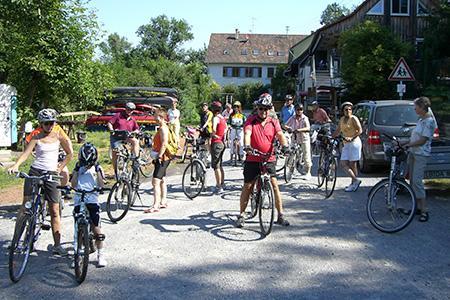 Radtour mit unseren Mitgliedern von extrafit Bietigheim-Bissingen, Fitnessstudio 50+