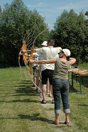 Bogenschiessen mit unseren Mitgliedern von  extrafit Bietigheim-Bissingen, Fitnessstudio 50+